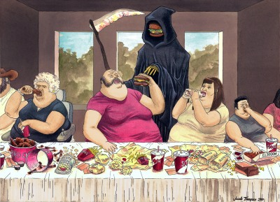 """The Fast-Food Supper"" 2010, Jacob Thompson"