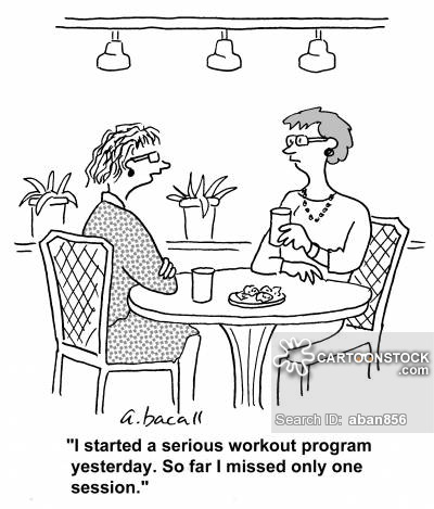 'I started a serious workout program yesterday. So far I missed only one session.'
