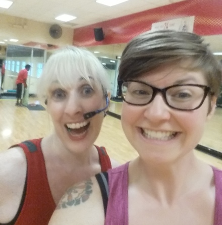Carrie and Cara bodypump after glow